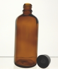 Glass Amber Bottle 100ml with Dripolator