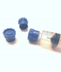 Syringe Protector Caps - Round Blue