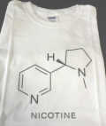 Nicotine Molecule White T-Shirt Size Large