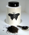 Black and White Butterfly Tea Caddy