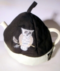 Black Tea Cosy with Owl Design