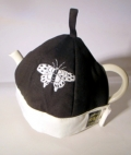 Black Tea Cosy with Butterfly Design