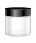 Glass Clear Jar 65ml - Round